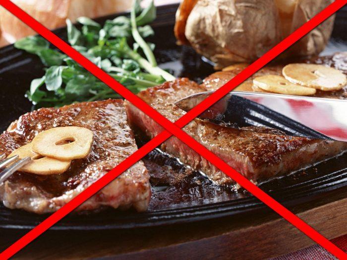 необходимо отказаться от жирной пищи