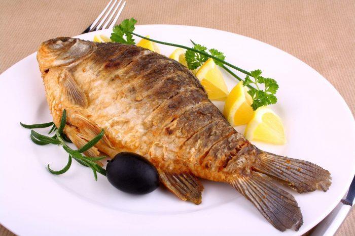 прожаренная рыба