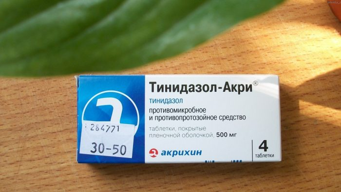 противопротозойное лекарство тинидазол