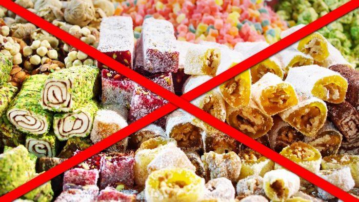 запрещены любые десерты