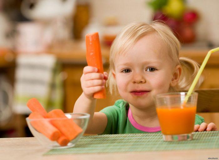 лечение морковным соком детей